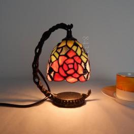 """Малка настолна лампа в стил Тифани """"Rose"""""""