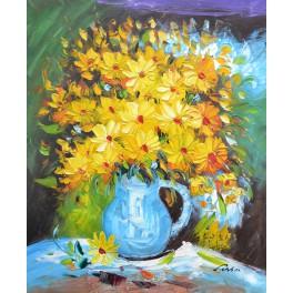 Ваза с жълти цветя