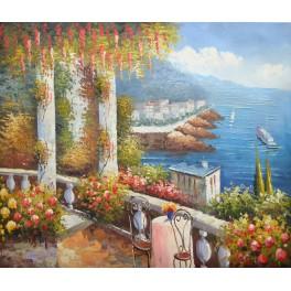 Цветна градина край морето