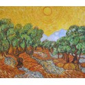 Залез над маслинова горичка, 1889г., Винсент Ван Гог