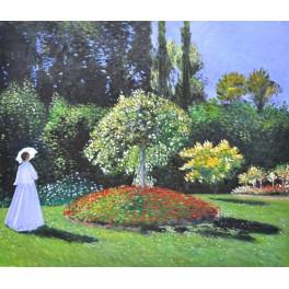 """""""Дама в градината"""", 1867г., Моне"""
