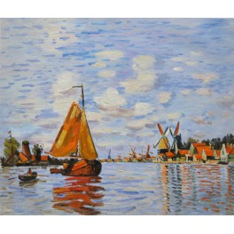 """""""Вятърни мелници в Холандия"""", 1871г., Моне"""