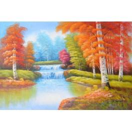 Река с брези, есен 91х 61