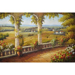Цветна градина във френската провинция 91х 61