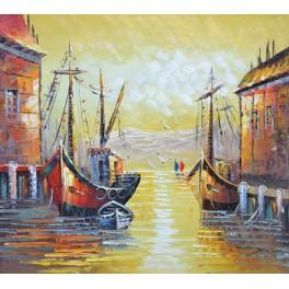 Лодки в пристанището