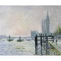 """""""Темза под Уестминстър"""", 1871г., Моне"""