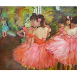 Танцьорки в розово, 1885 г., Едгар Дега