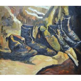 Три чифта обувки, 1886- 1887 г., Винсент Ван Гог