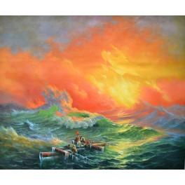 Деветата вълна, 1850 г., Иван Айвазовски