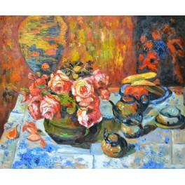 Натюрморт с рози, Франц Бисхоф