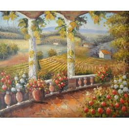 Цветна градина във френската провинция