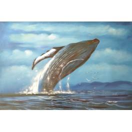 В царството на кита 91х 61